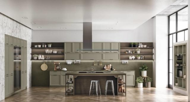 VOGUE Contemporary di Doimo Cucine con frigorifero incassato