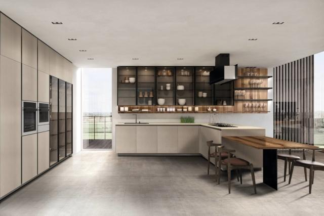 euromobil Kitchen catalogo 2018-42 cucina con cappa importante