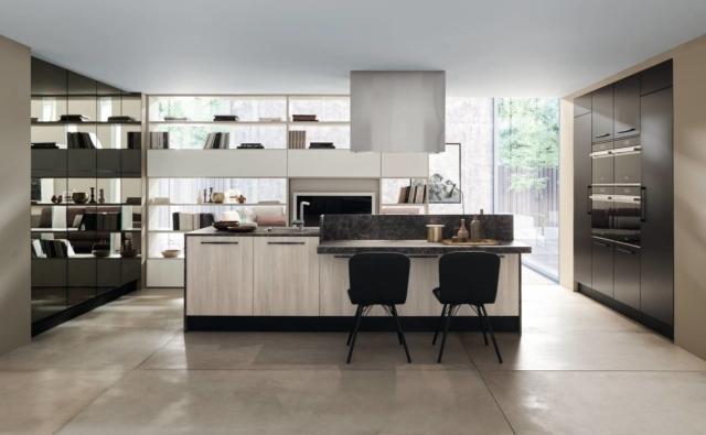 Ice 01 di Febal Casa cucina con frigorifero incassato