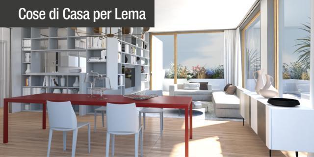 Progetto in 3D: separare cucina e soggiorno con la libreria su misura