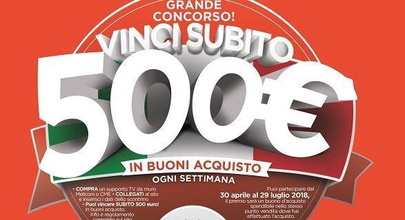 Concorso Meliconi: compra un supporto TV e vinci un buono spesa di 500 euro