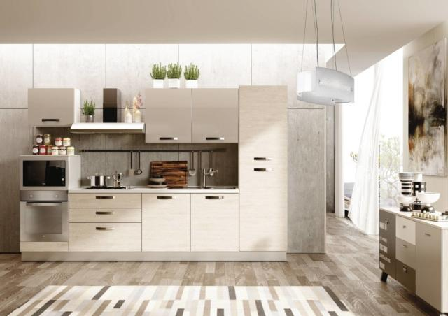Avenue Limited di Mercatone Uno cucina con frigorifero incassato
