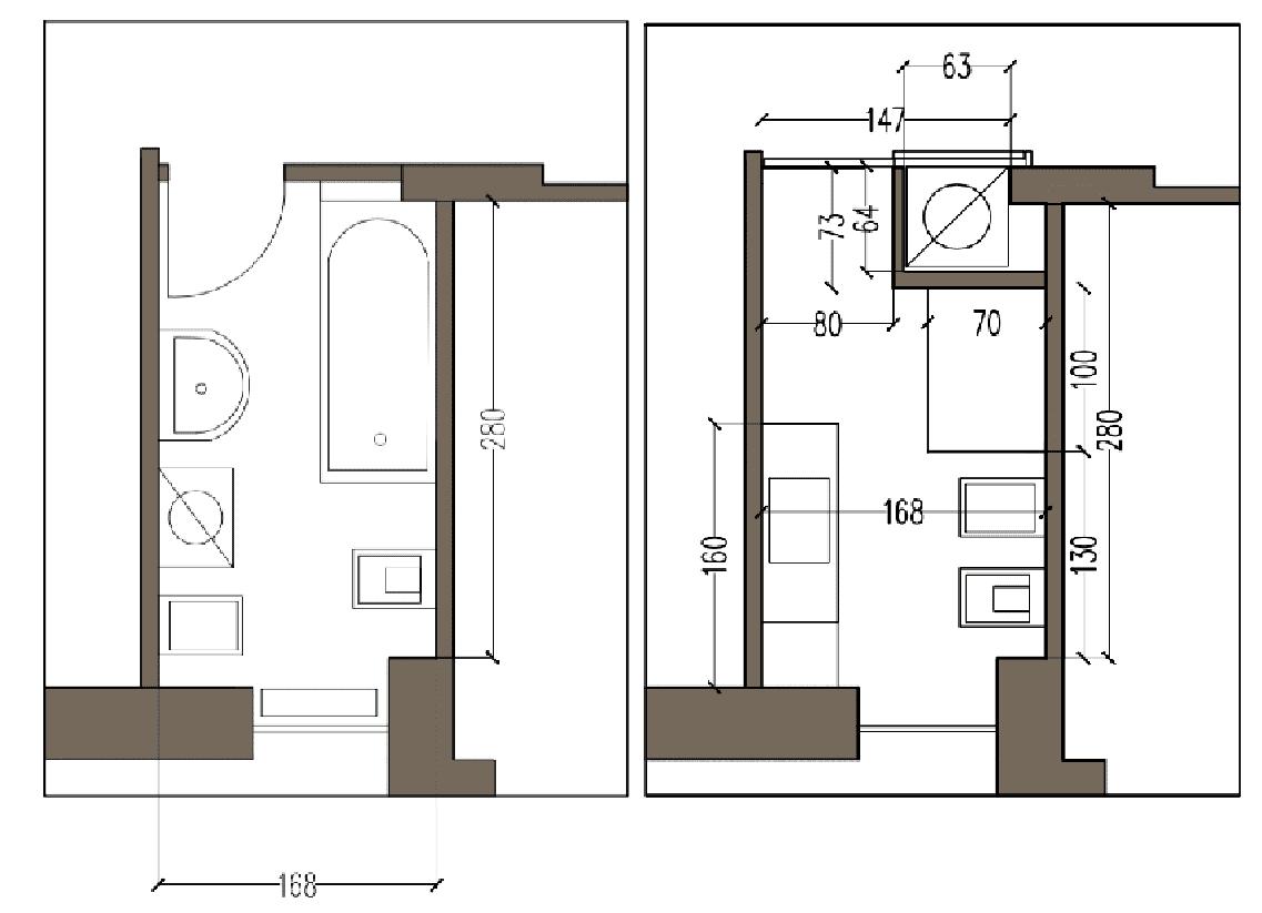 Bagno Piccolo Con Doccia E Lavatrice.Progetto In 3d Spostando La Lavatrice E Aggiungendo L