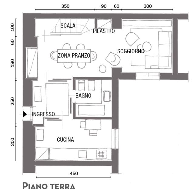 47 mq 22 mq di soppalco una piccola casa dallo stile rigoroso con un tocco femminile cose - Casa di 70 mq e piccola ...