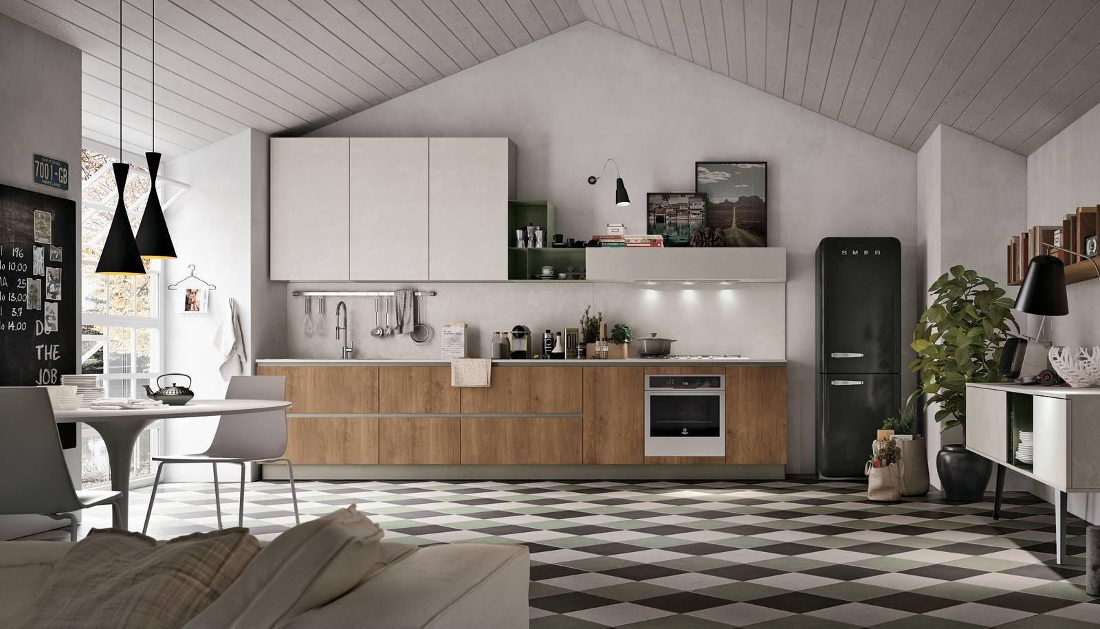 La cucina con il frigorifero freestanding un evergreen for Arredamento gratis