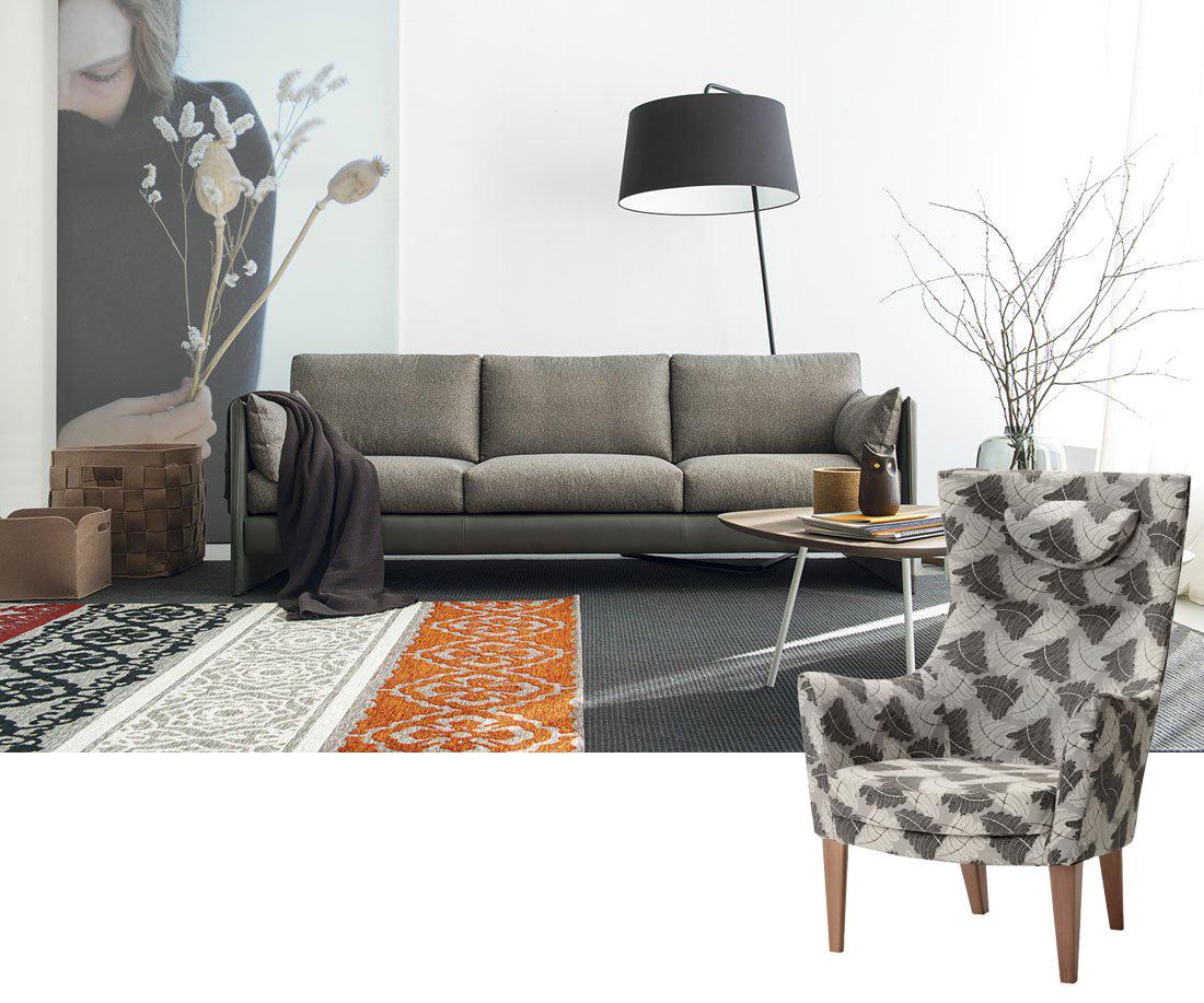 Divano e poltrona da abbinare per un soggiorno pi comodo cose di casa - Un divano per dodici ...