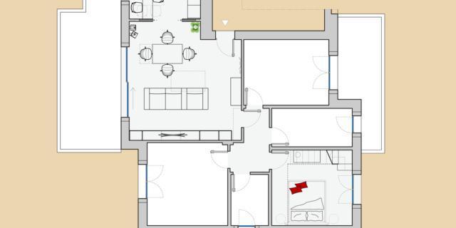 Progetti: separare cucina e soggiorno e sfruttare l'altezza nella camera