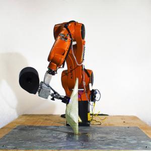 Atropos: finalista internazionale dell'edizione 2017. Progetto di Gabriele Natale, Design & Ingeneering, Politecnico di Milano, Italia. Braccio robotico a 6 assi, capace di stampare oggetti in 3D a partire da un file CAD.