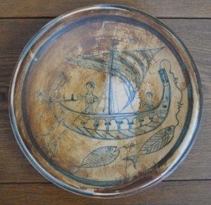 """Piatto """"Galeone"""" della serie Bacini Ceramici"""