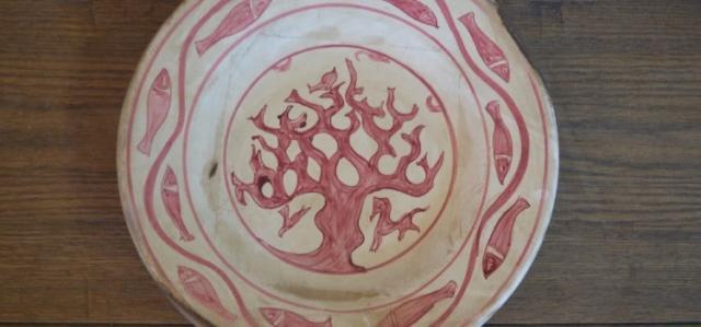 """Piatto """"Albero"""" della serie Bacini Ceramici"""