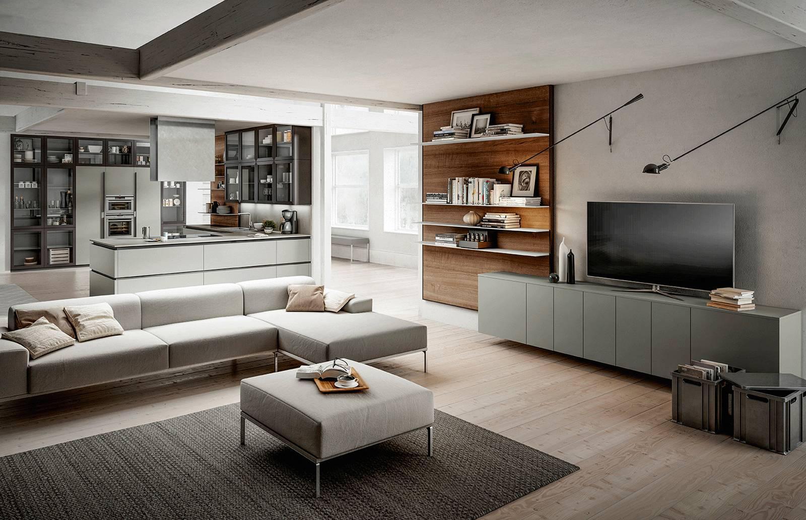 Progetti 3 modi di vivere la cucina open space for Soggiorno living