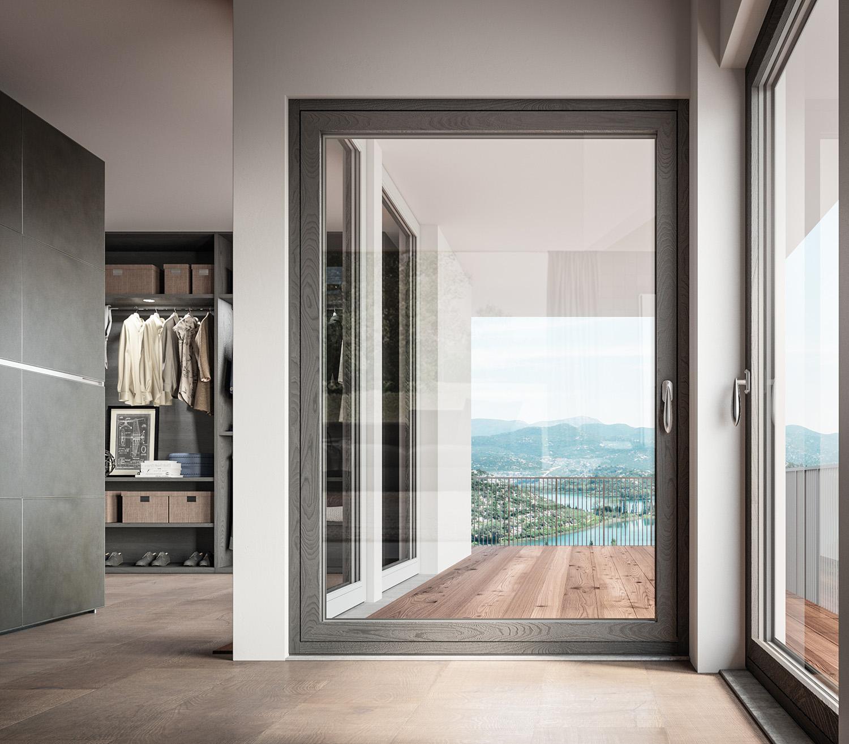 Finestre bg legno i punti di forza della serie cloud for Infissi finestre