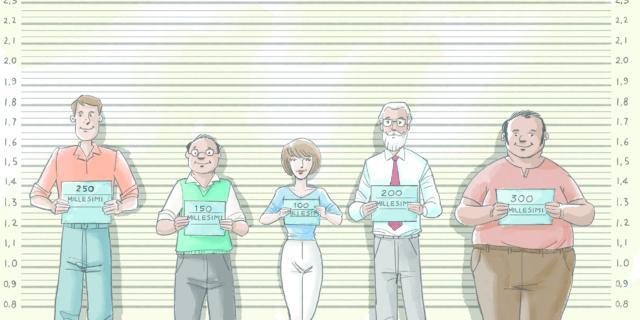 disegno che illustra i millesimi in condominio