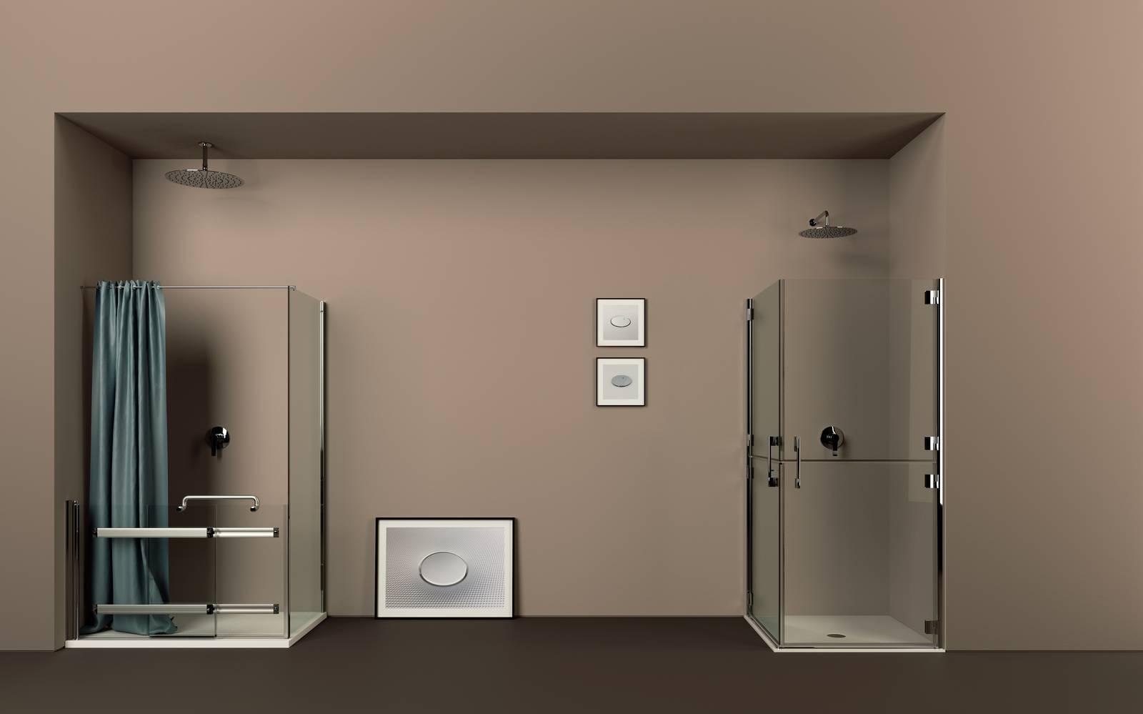 Sedile Doccia Ribaltabile Offerte : Doccia age friendly inclusive design per il bagno sicuro di ponte