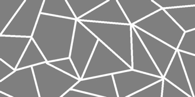 Righe e figure geometriche bianche sulla parete colorata