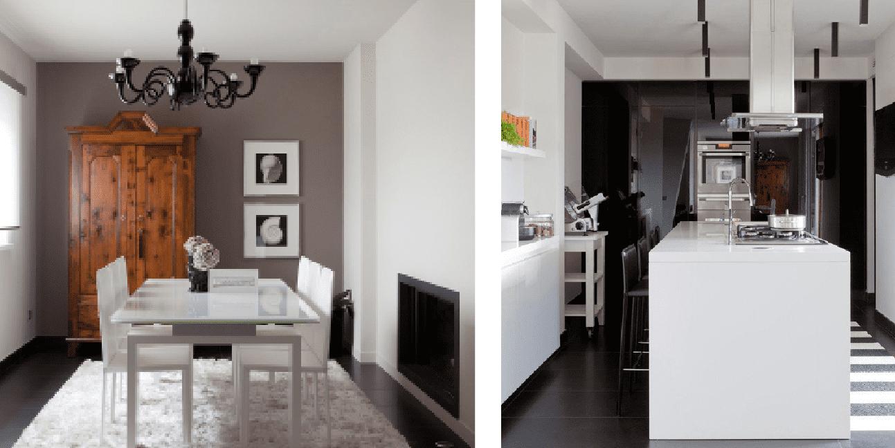 bianco grigio nero per la casa di gusto contemporaneo