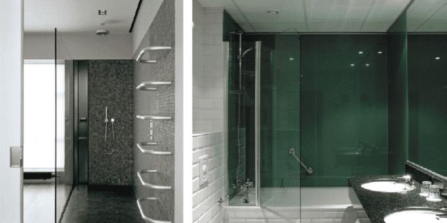 Trasparenza e sicurezza per il bagno, con il vetro invisibile e brillante Luxclear Protect di AGC Flat Glass