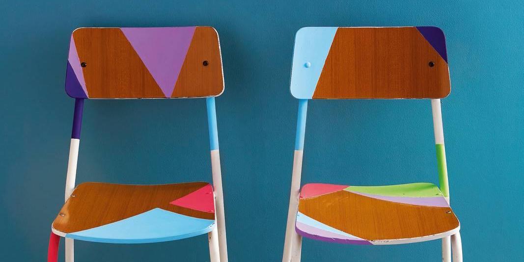 Sedie Colorate Fai Da Te.L Arte Del Recupero Dipingere La Vecchia Sedia Per Un Cambio Di
