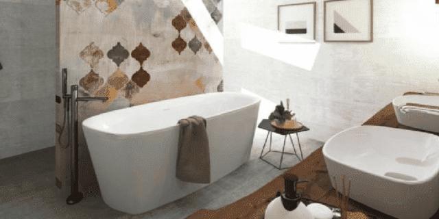 Progetto bagno: in 10 mq la quinta decorativa organizza le zone funzionali
