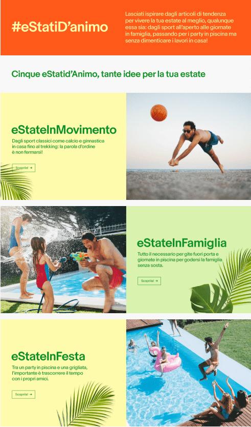 I cinque eStati d'animo individuati dalla ricerca eBay per l'estate italiana 2018.