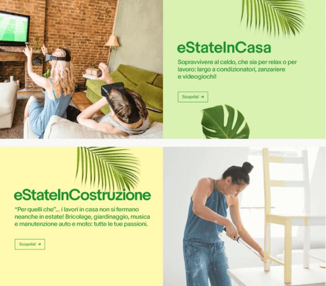 Due i mood estivi individuati per il settore domestico: eStateInCasa e eStateInCostruzione.