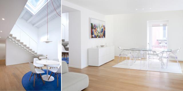 Tanto bianco e luce dall'alto per una casa più luminosa