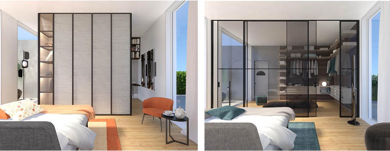 Armadio o cabina? Due progetti in 3D per la camera da letto ...