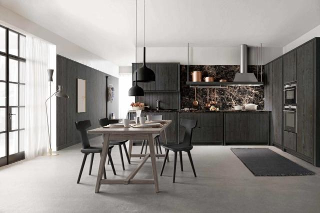 scandola +Cucina Maestrale cucine in black