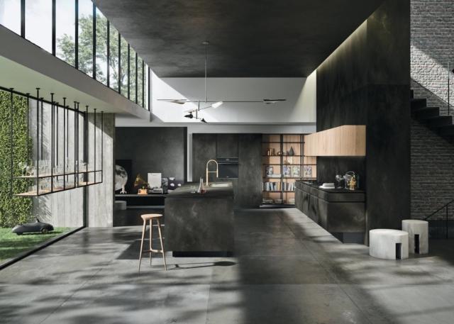 snaidero cucina-Way-ceramica-ossido-nero-1 cucine in black