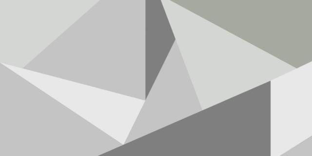 Decorare la parete a triangoli, di colori diversi ma in nuance