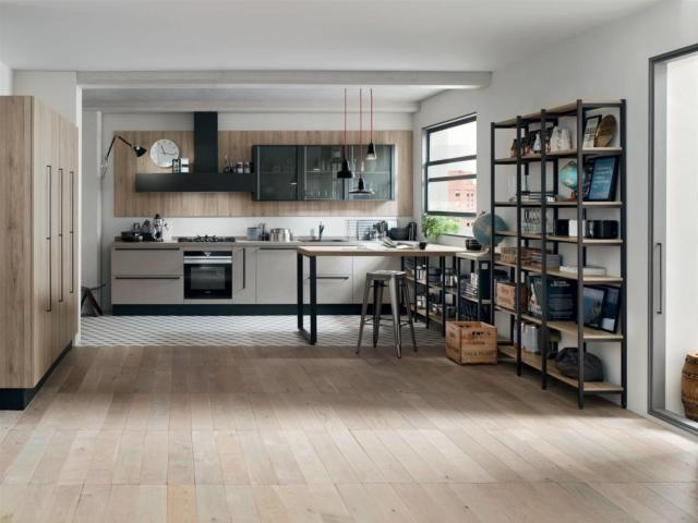 venetaCucine_Start-Time cucine in black
