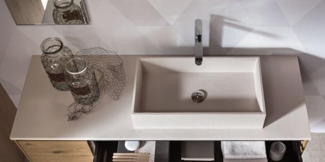 Lavabi squadrati per il bagno minimal e rigoroso