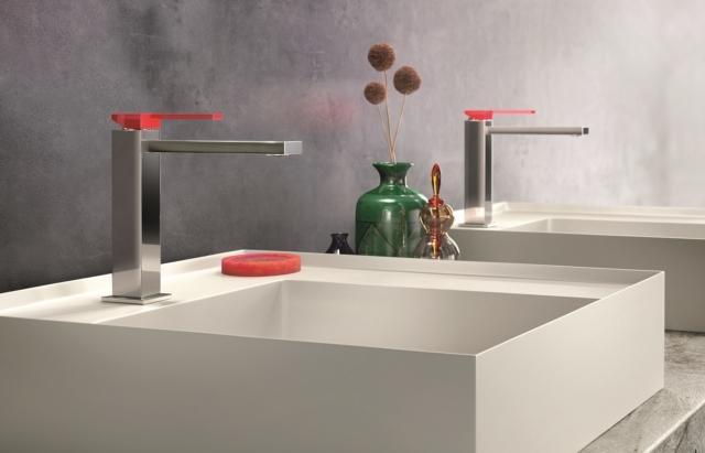 rubinetto squadrato gattoni color cube miscelatore