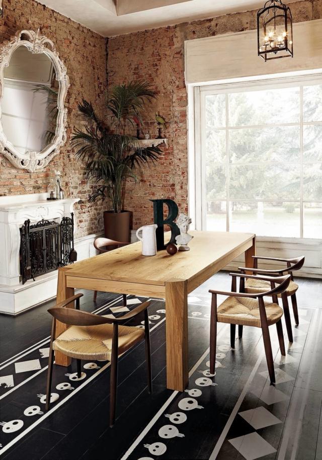 tavolo rettangolare legno massiccio Slash di Colico Design