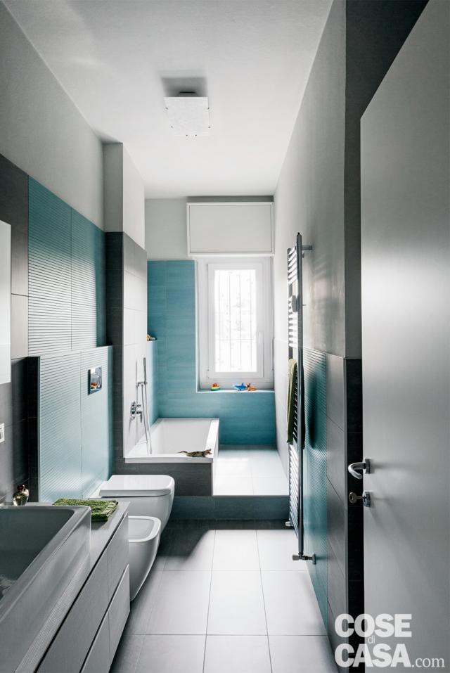 secondo bagno per tutti nella casa ampliata da 3 a 4 locali
