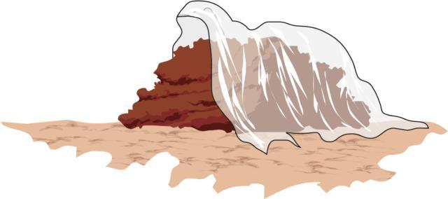 In agosto il cumulo va coperto con teli di tessuto non tessuto.