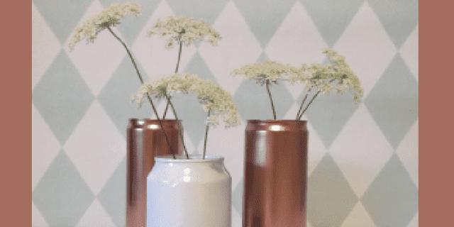 Recuperare le lattine delle bibite e trasformarle in vasi