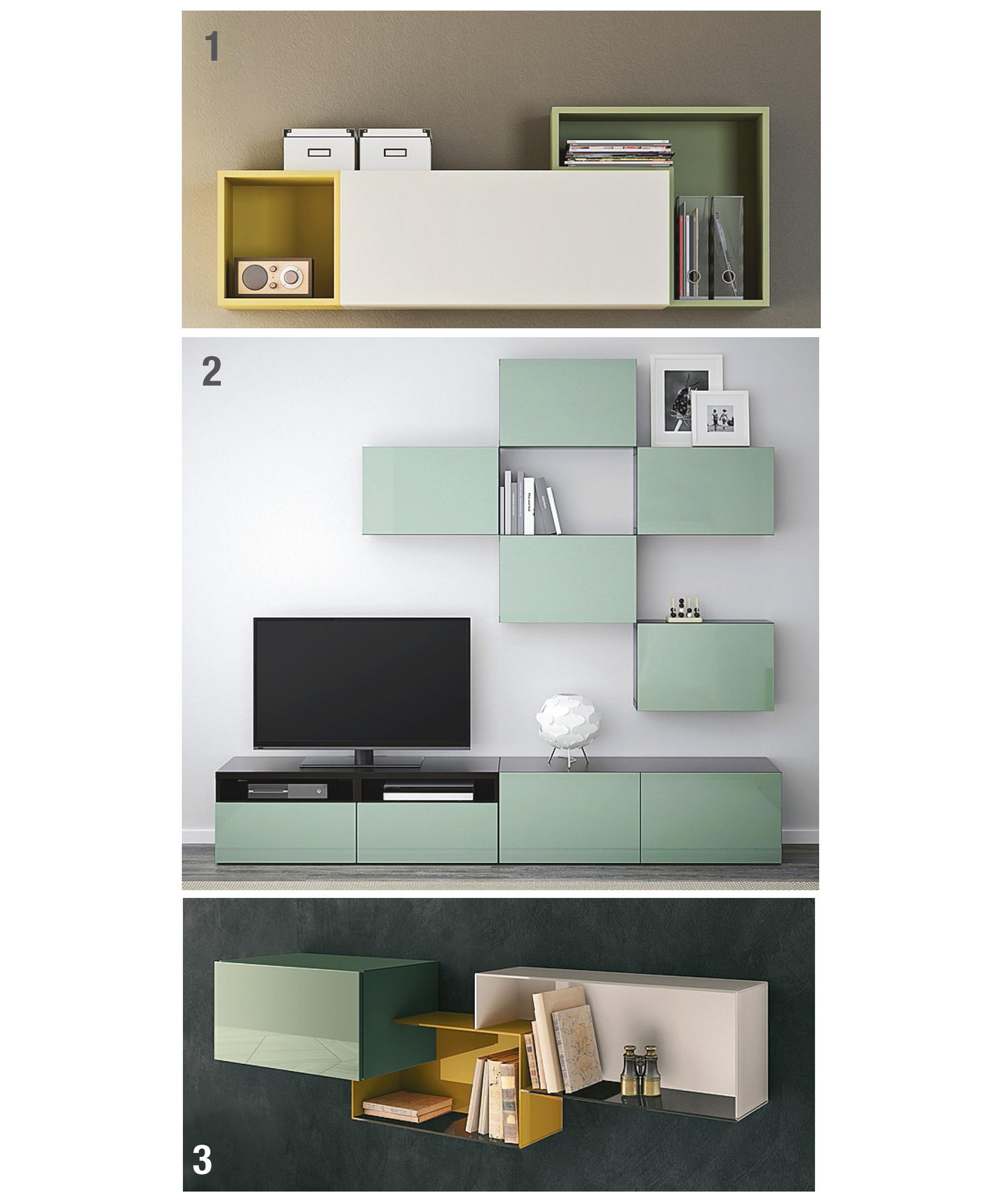 Libreria Da Parete Ikea mobili sospesi: contenitori easy a parete - cose di casa