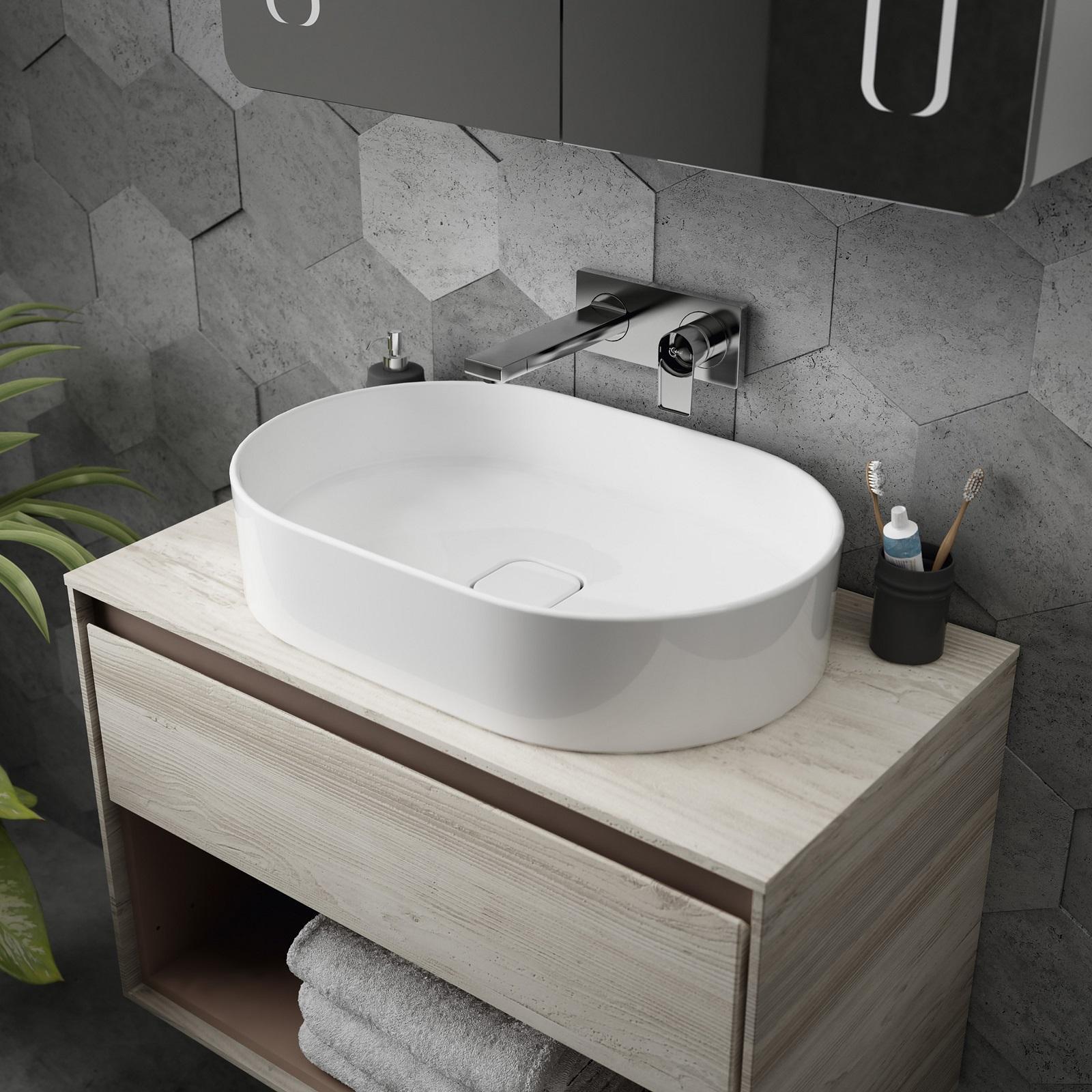 Lavabi dalle linee tonde bianchi o colorati cose di casa - Lavabi bagno ideal standard ...