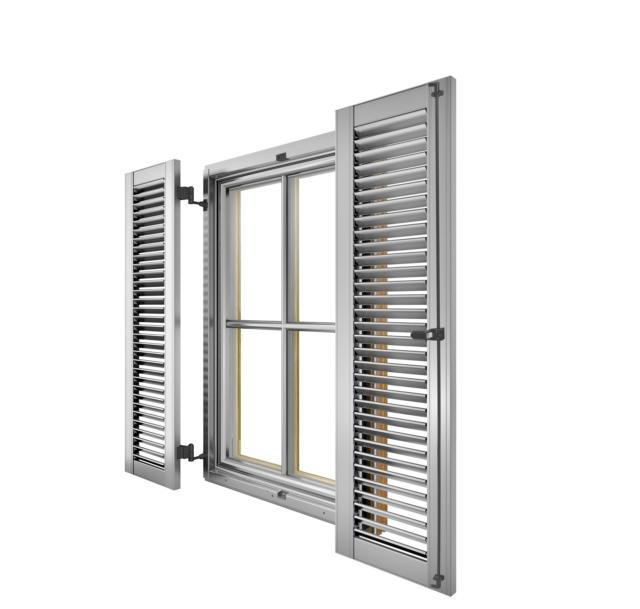 4 internorm in alluminio persiane