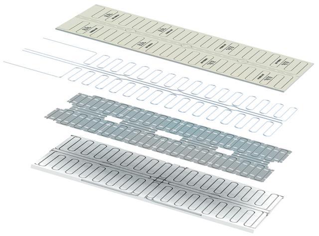 Sistema radiante a soffitto Blife di Loex per il riscaldamento ad acqua