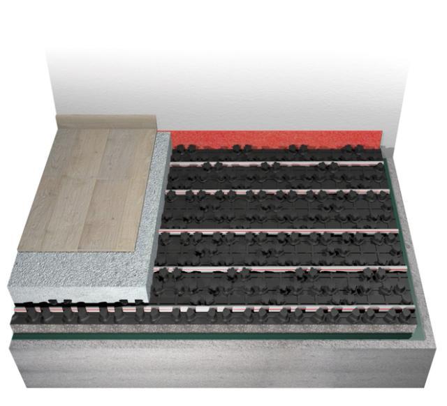 sistema a pavimento Euroflex di Eurotherm per riscaldamento ad acqua