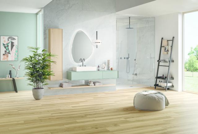 pavimento in ceramica effetto legno nuance di panaria