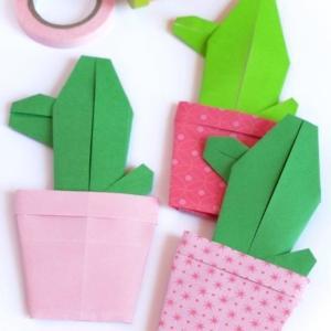 Cactus origami di Sara Sebastiani