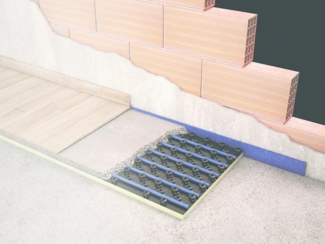 Sistema a pavimento Renova di Chemidro by Wavin per il riscaldamento ad acqua