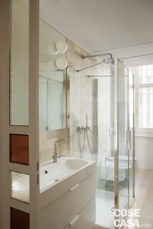 bagno casa 37 mq con soppalco