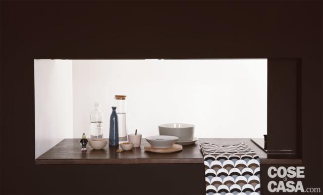 passavivande tra cucina e living mansarda 50 mq