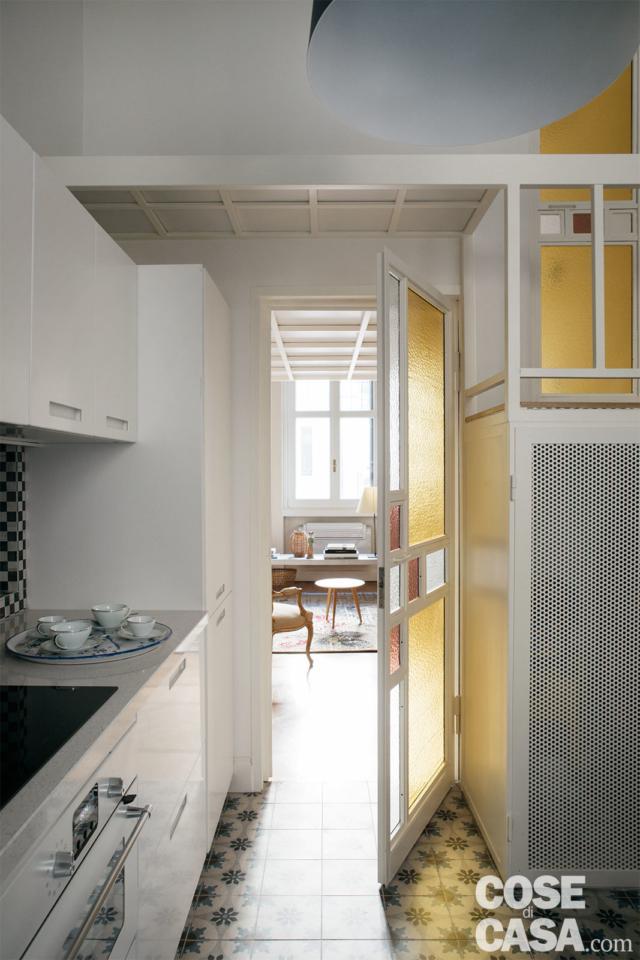 cucina casa 37 mq con soppalco