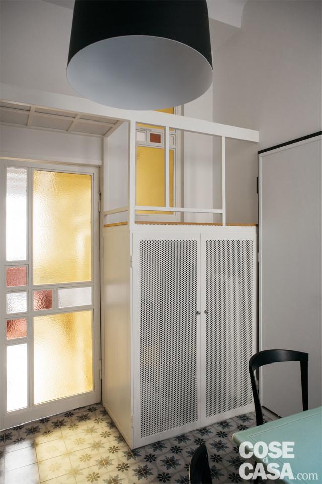 cucina-armadio casa 37 mq con soppalco