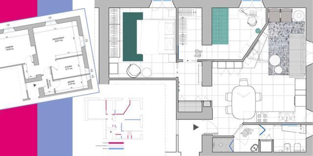 Trasformare il bilocale in trilocale, ricavando una camera in più o lo studio